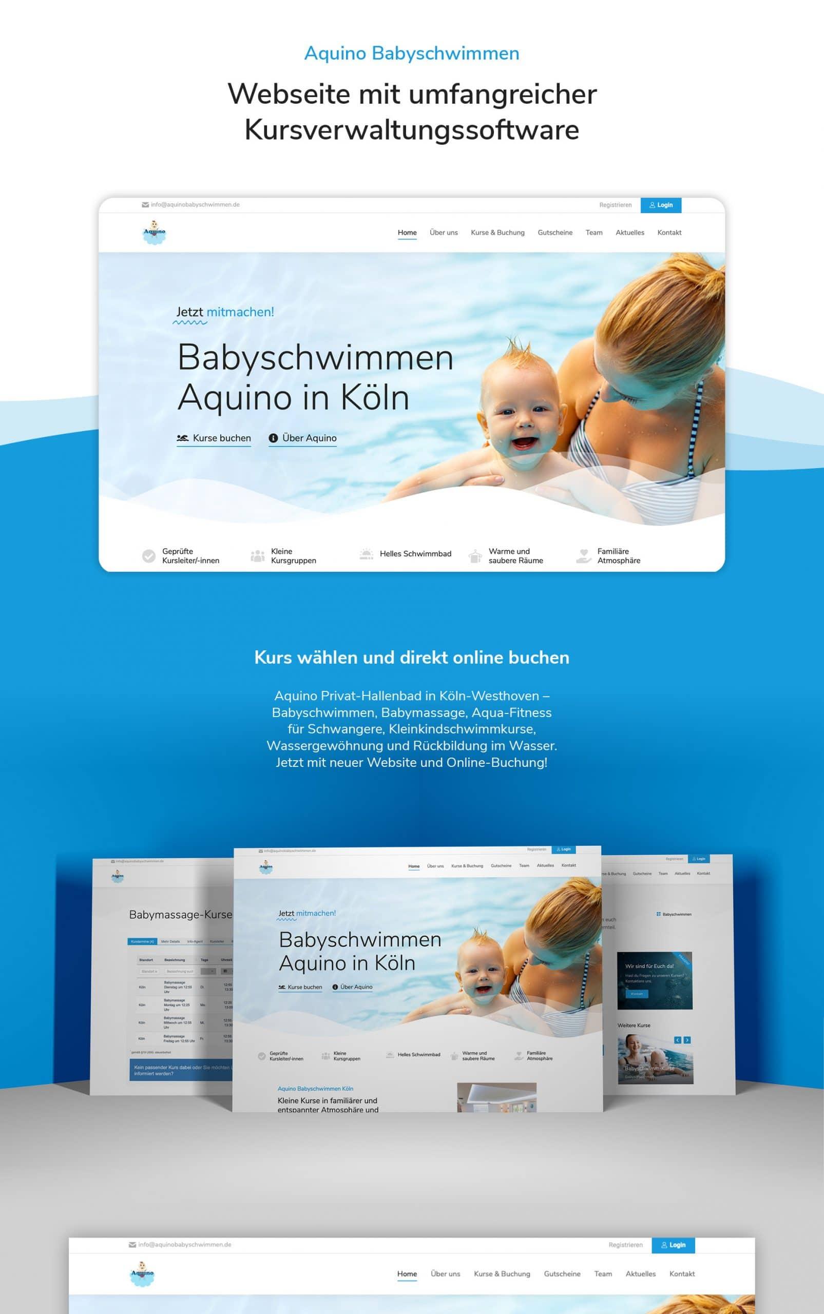 Aquino Babyschwimmen neue Website